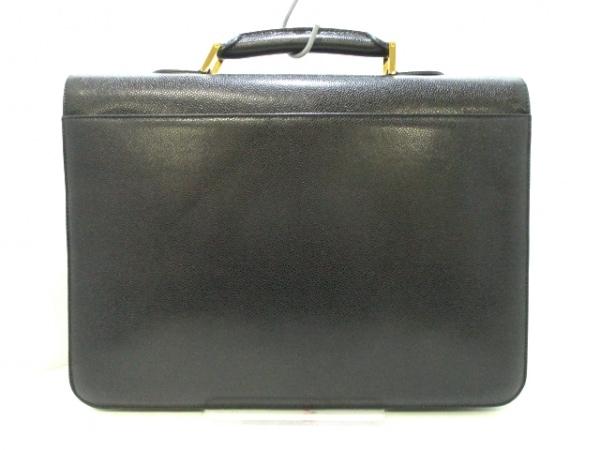 CHANEL(シャネル) ビジネスバッグ キャビアスキン - 黒 ゴールド金具 3