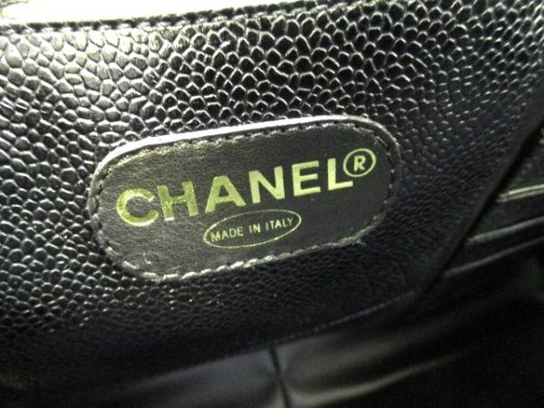CHANEL(シャネル) ビジネスバッグ キャビアスキン - 黒 ゴールド金具 6