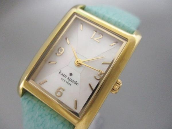ケイト 腕時計 - 0429 レディース シェル文字盤/革ベルト 0