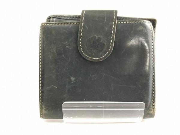 ホワイトハウスコックス Wホック財布 ダークグリーン レザー 0