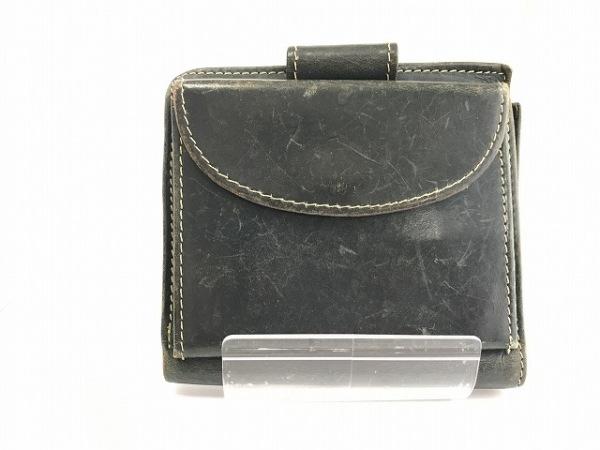 ホワイトハウスコックス Wホック財布 ダークグリーン レザー 2