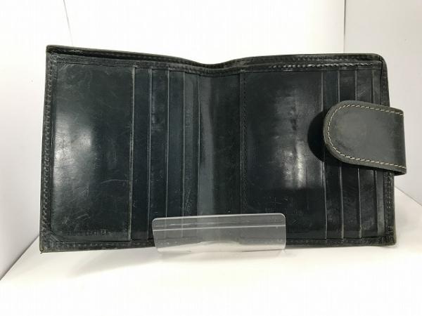 ホワイトハウスコックス Wホック財布 ダークグリーン レザー 3