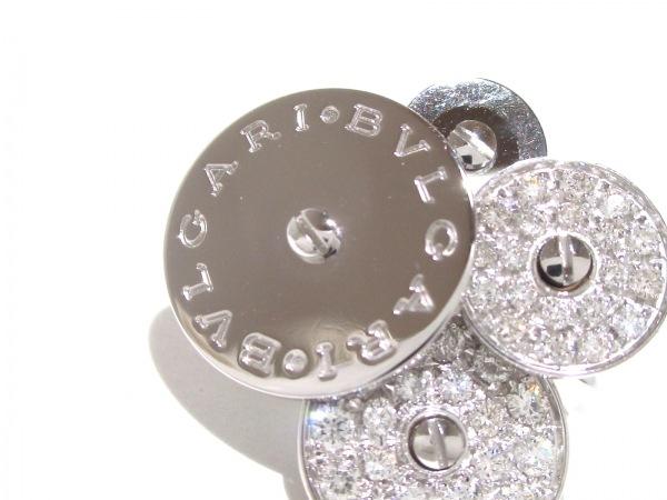 BVLGARI(ブルガリ) ピアス美品  チクラディ K18WG×ダイヤモンド 5