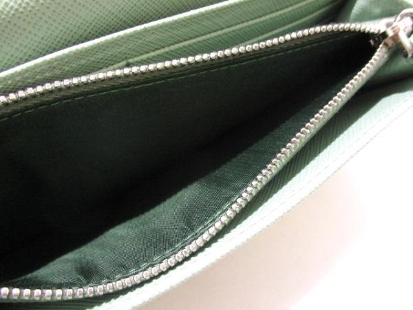PRADA(プラダ) 長財布美品  - 1MH132 ライトグリーン リボン 4