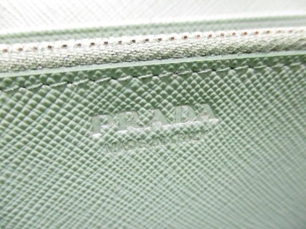 PRADA(プラダ) 長財布美品  - 1MH132 ライトグリーン リボン 5