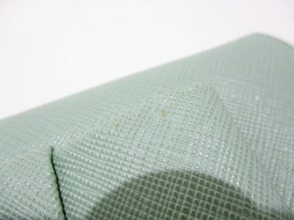 PRADA(プラダ) 長財布美品  - 1MH132 ライトグリーン リボン 6