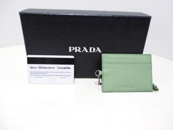 PRADA(プラダ) 長財布美品  - 1MH132 ライトグリーン リボン 7