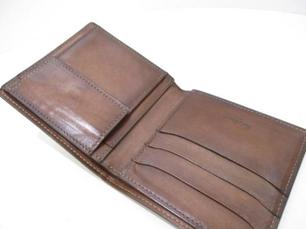 berluti(ベルルッティ) 2つ折り財布 ブラウン カリグラフィー レザー 3