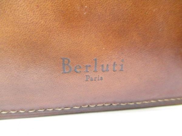 berluti(ベルルッティ) 2つ折り財布 ブラウン カリグラフィー レザー 5