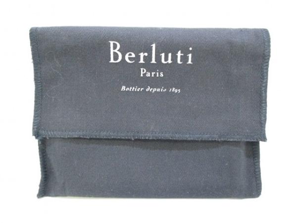 berluti(ベルルッティ) 2つ折り財布 ブラウン カリグラフィー レザー 9