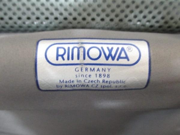 RIMOWA(リモワ) トランクケース美品  黒 ポリカーボネイト 6