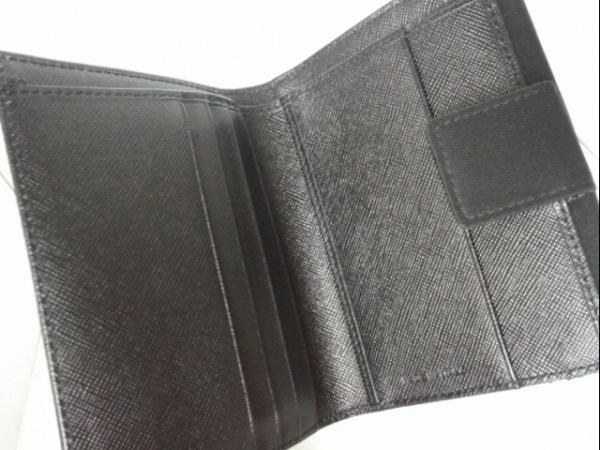 PRADA(プラダ) Wホック財布 - 黒 ナイロン 3
