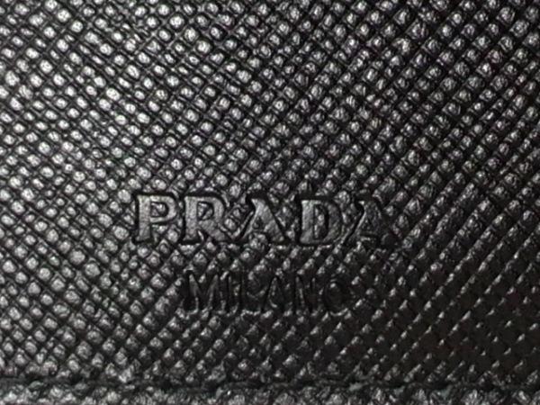 PRADA(プラダ) Wホック財布 - 黒 ナイロン 5