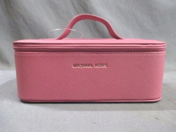MICHAEL KORS(マイケルコース) バニティバッグ美品  ピンク レザー 0