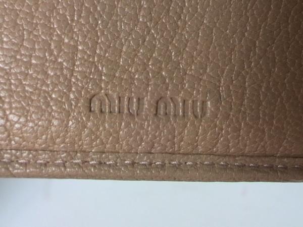 miumiu(ミュウミュウ) Wホック財布 - 5M1373 ベージュ レザー 5