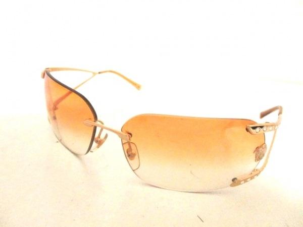 ヴェルサーチ サングラス美品  MOD.N86-H ライトブラウン×ゴールド 0
