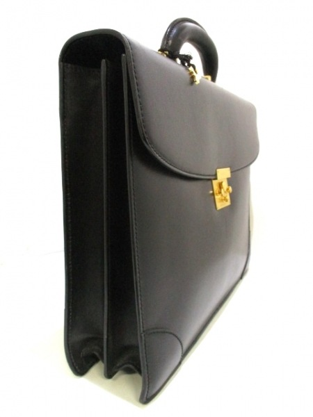 ヴァレクストラ ビジネスバッグ 黒 シャーロックホームズキー レザー 2