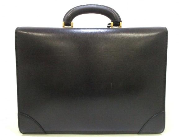 ヴァレクストラ ビジネスバッグ 黒 シャーロックホームズキー レザー 3