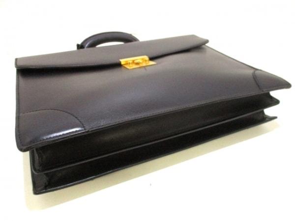 ヴァレクストラ ビジネスバッグ 黒 シャーロックホームズキー レザー 4