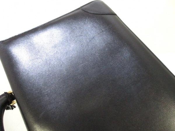 ヴァレクストラ ビジネスバッグ 黒 シャーロックホームズキー レザー 7