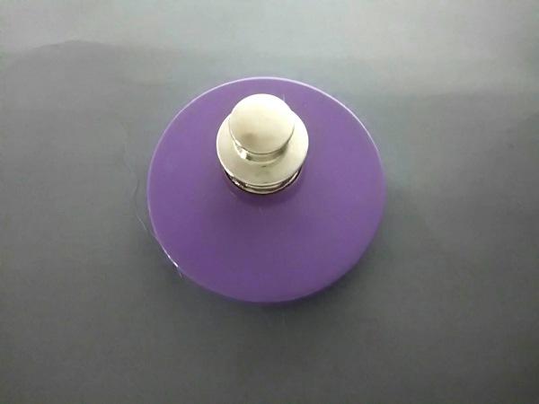 シャネル ブローチ美品  プラスチック パープル×レッド×シルバー 2