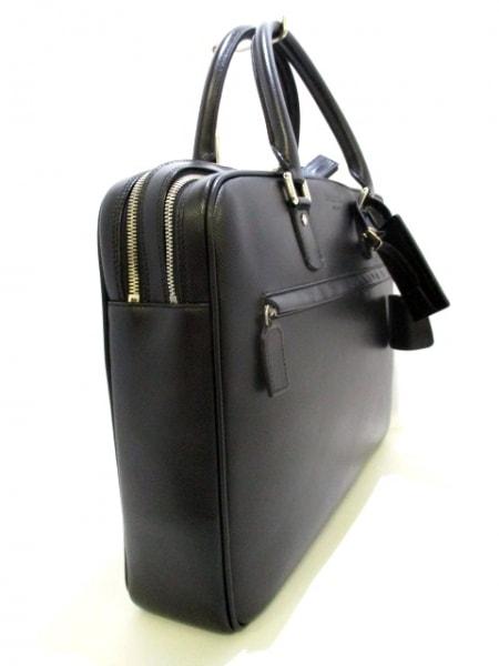 SERAPIAN(セラピアン) ビジネスバッグ美品  黒 ロゴ型押し レザー 2