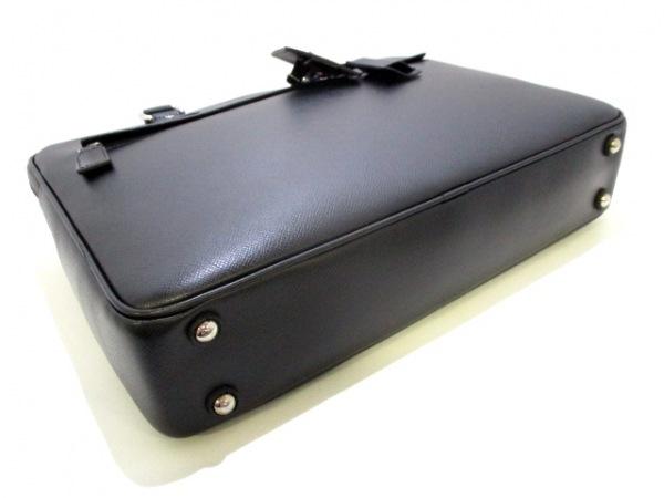 SERAPIAN(セラピアン) ビジネスバッグ美品  黒 ロゴ型押し レザー 4