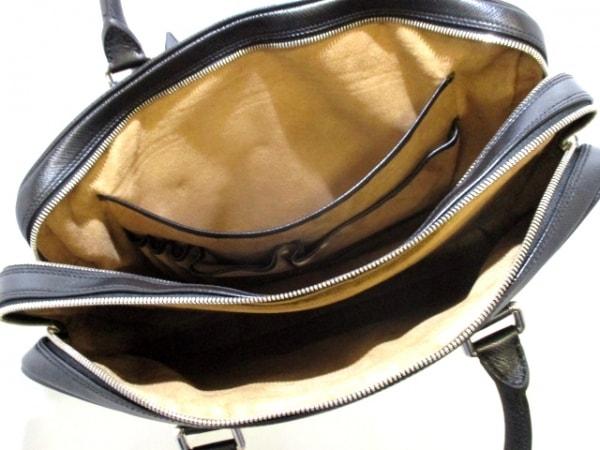 SERAPIAN(セラピアン) ビジネスバッグ美品  黒 ロゴ型押し レザー 5