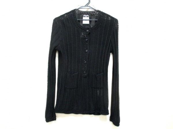 シャネル 長袖セーター サイズ38 M レディース美品  黒 ビーズ 0