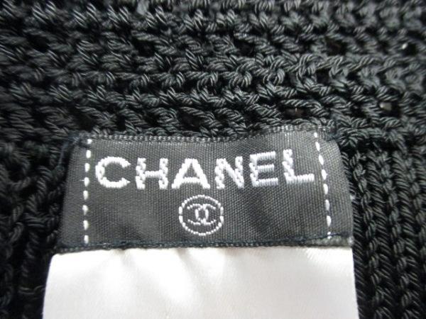 シャネル 長袖セーター サイズ38 M レディース美品  黒 ビーズ 3