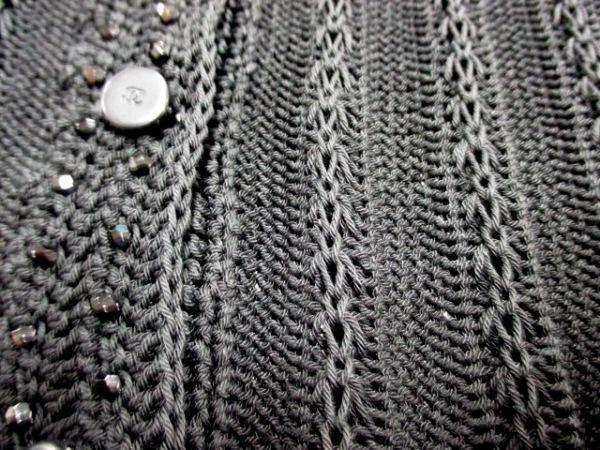 シャネル 長袖セーター サイズ38 M レディース美品  黒 ビーズ 5