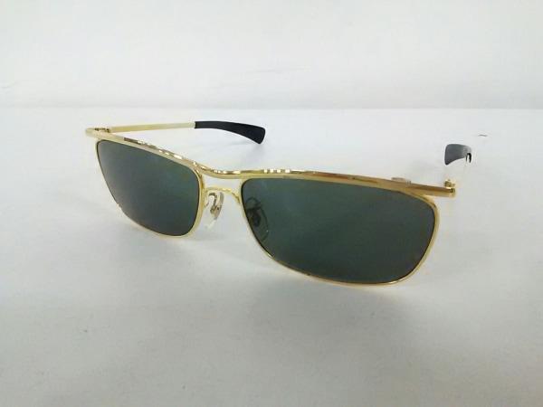 レイバン サングラス美品  OLYMPIAN - ダークグリーン×ゴールド×黒 0