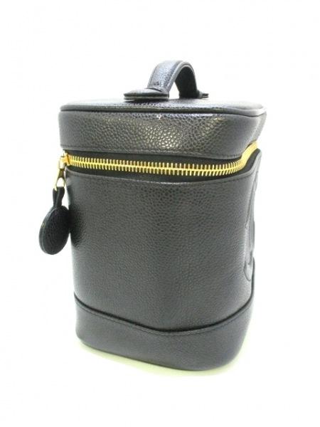 CHANEL(シャネル) バニティバッグ美品  キャビアスキン A01998 黒 2