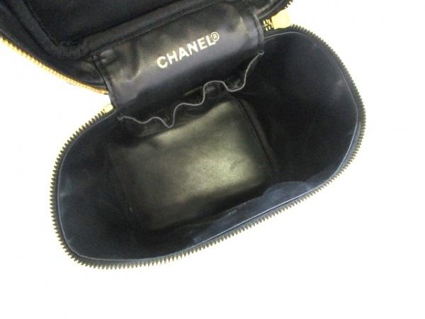 CHANEL(シャネル) バニティバッグ美品  キャビアスキン A01998 黒 5
