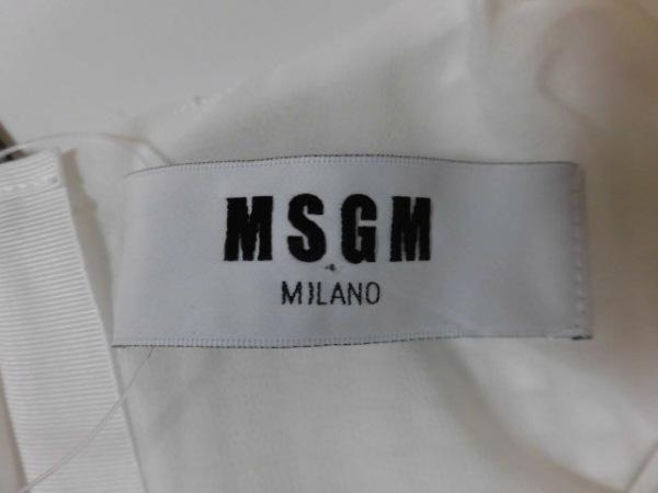 MSGM(エムエスジィエム) カットソー サイズ40 M レディース 白 3