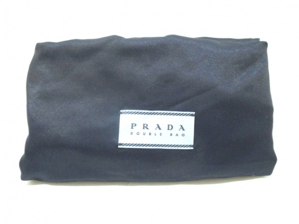 PRADA(プラダ) トートバッグ美品  ダブルバッグ ネイビー 9