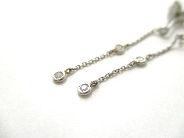 STAR JEWELRY(スタージュエリー) ピアス美品  Pt950×ダイヤモンド 3