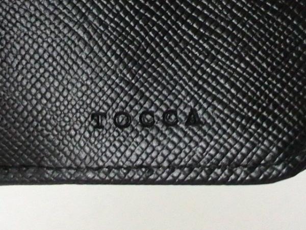 トッカ Wホック財布美品  黒×ゴールド リボン レザー×金属素材 5