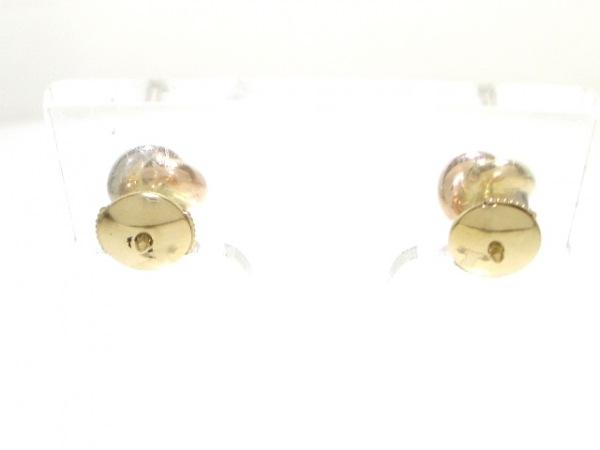 カルティエ ピアス美品  B8027100 K18スリーカラー×ダイヤモンド 2