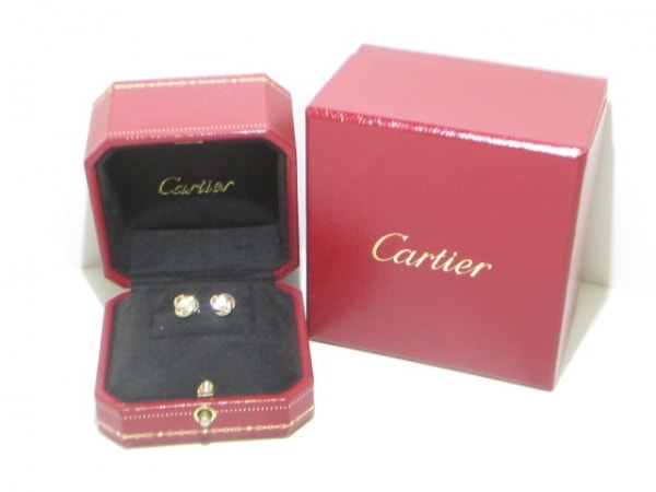 カルティエ ピアス美品  B8027100 K18スリーカラー×ダイヤモンド 6