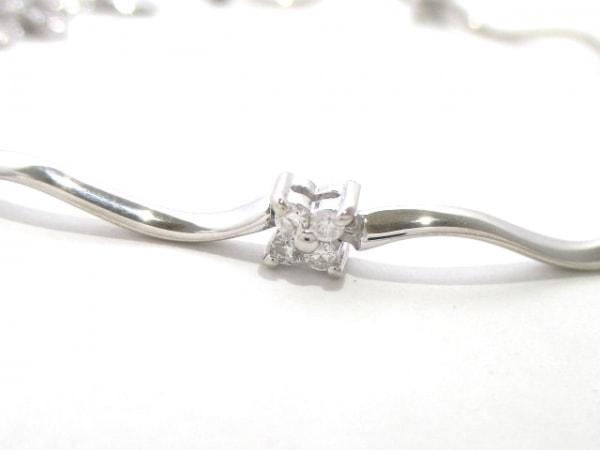 ヴァンドーム青山 ブレスレット新品同様  K18WG×ダイヤモンド 2
