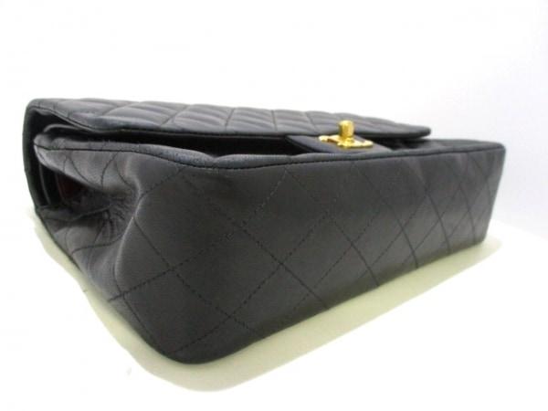 シャネル ショルダーバッグ マトラッセ A01112 黒 ラムスキン 4