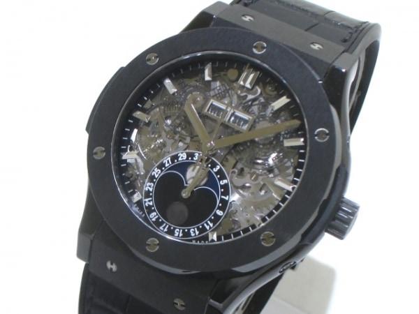 ウブロ 腕時計 アエロフュージョン ムーンフェイズ ブラックマジック 0