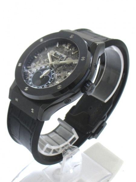 ウブロ 腕時計 アエロフュージョン ムーンフェイズ ブラックマジック 2