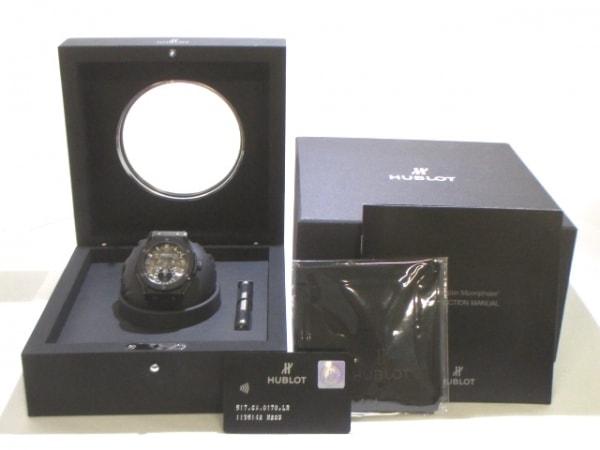 ウブロ 腕時計 アエロフュージョン ムーンフェイズ ブラックマジック 9