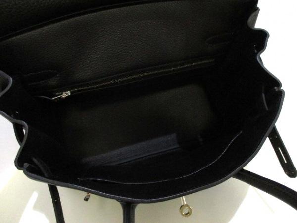 HERMES(エルメス) ハンドバッグ バーキン30 黒 シルバー金具 トゴ 2