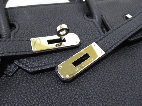 HERMES(エルメス) ハンドバッグ バーキン30 黒 シルバー金具 トゴ 3