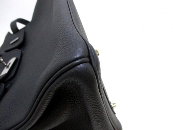 HERMES(エルメス) ハンドバッグ バーキン30 黒 シルバー金具 トゴ 6