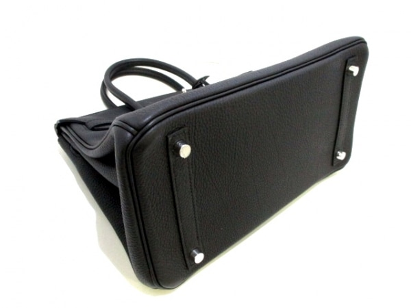 HERMES(エルメス) ハンドバッグ バーキン30 黒 シルバー金具 トゴ 8