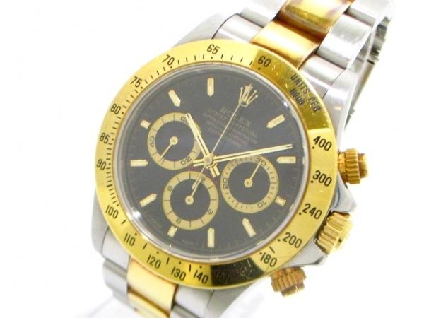 ロレックス 腕時計 デイトナ 16523 メンズ SS×K18YG/13コマ 黒 0